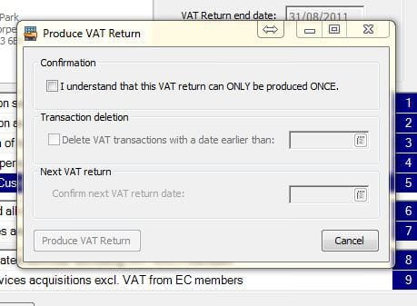 How to do a VAT Return in Sage 200 Image 2
