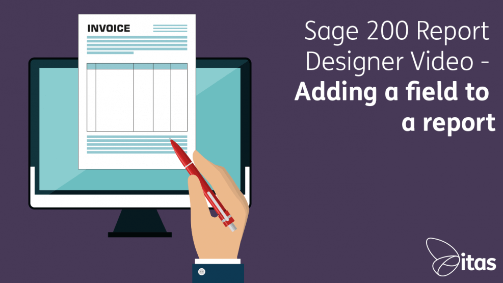 Sage-200-Report-Designer-Video---Adding-a-field-to-a-report