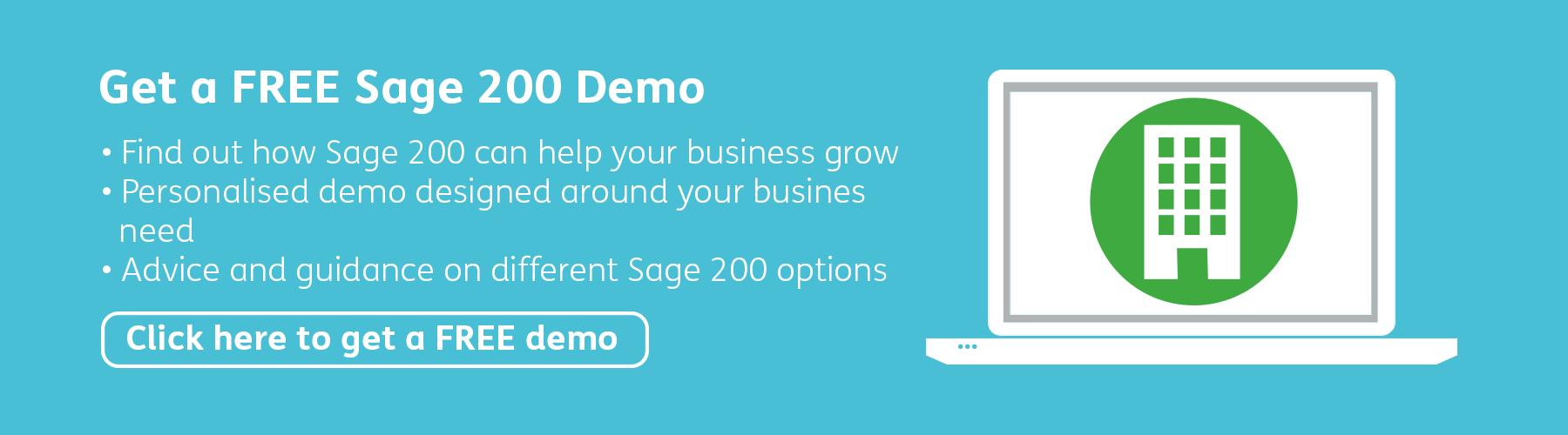 Get a FREE Sage 200 Demo