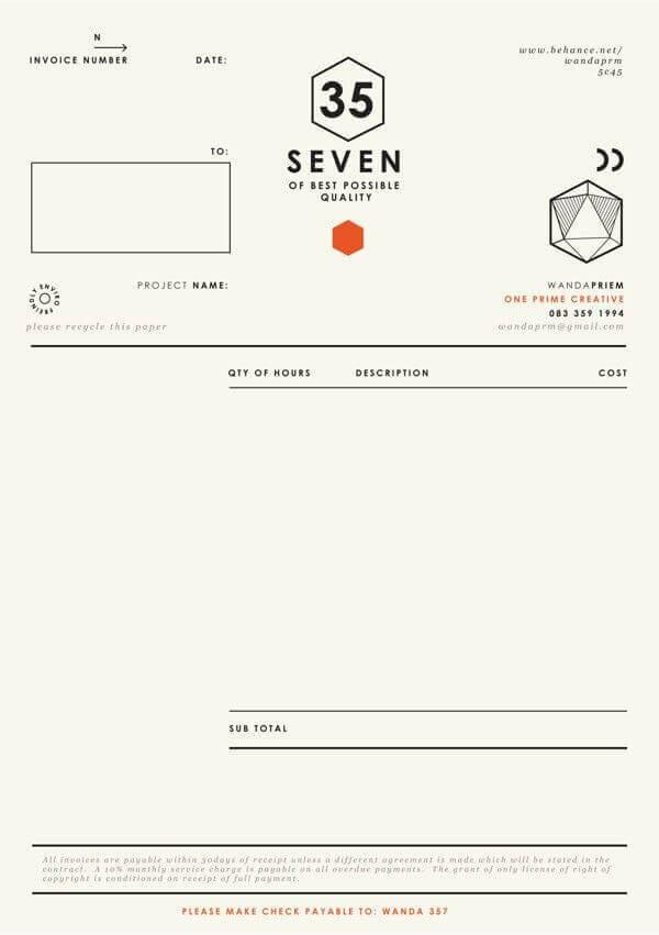 7 Creative Invoice Layouts Itas