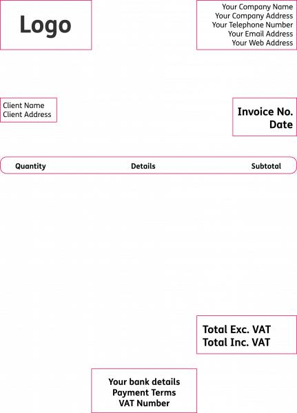 Basic invoice layout structure