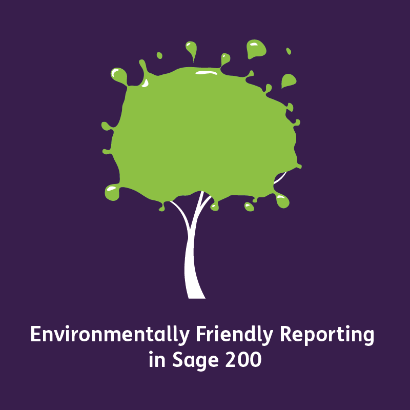 Environmentally Friendly Reporting in Sage 200 save paper