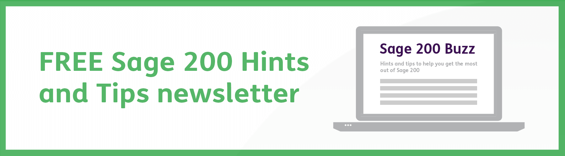 Free sage 200 hints and tips newsletter