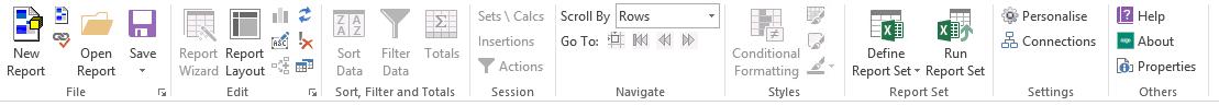 BI Advanced Functionality Toolbar