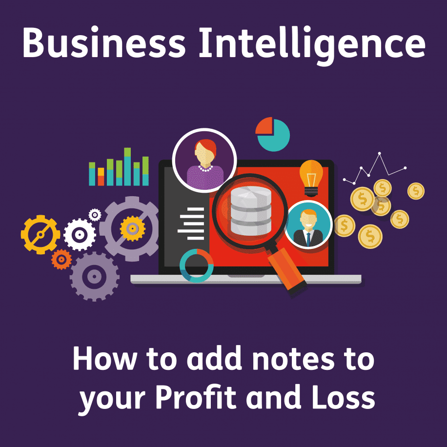 Business Intelligence - How to add notes to your Profit and Loss