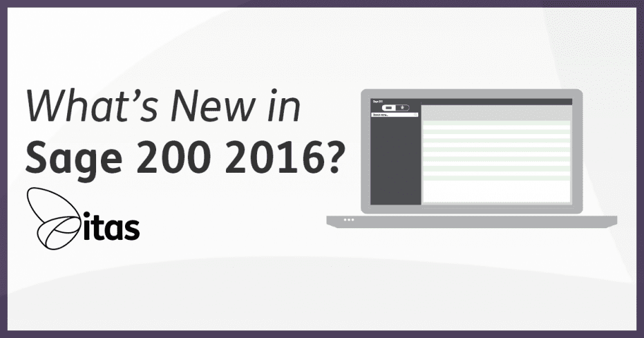 whats new in sage 200 2016
