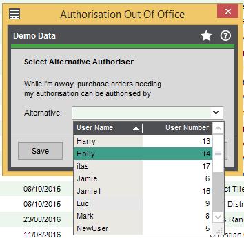 alternative authoriser Reduce workload