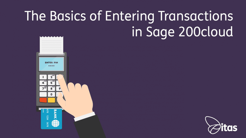 Entering Transactions in Sage 200cloud