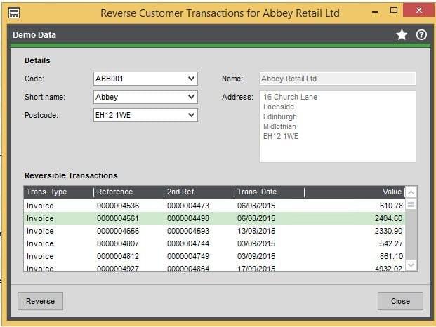 reverse transactions