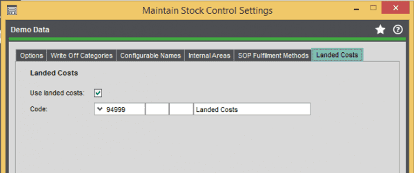 Landed-costs-Maintain-Stock-Control-Settings