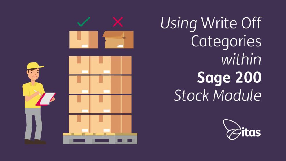 Using Write Off Categories within Sage200 Stock Module