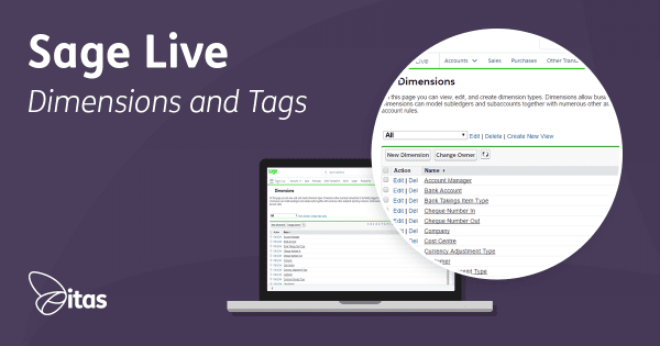Dimensions & Tags in Sage Live - What are they?