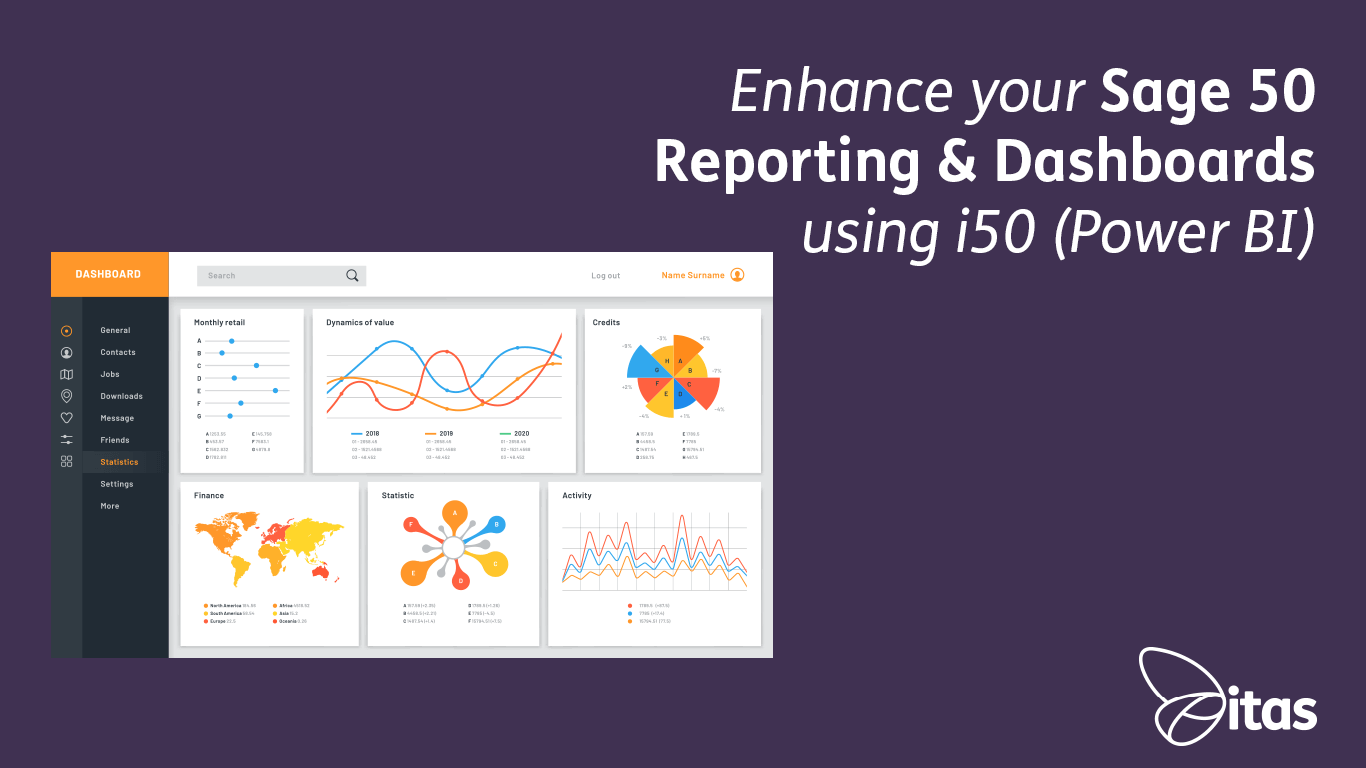Enhance your Sage 50 Reporting & Dashboards using i50 (Power BI)