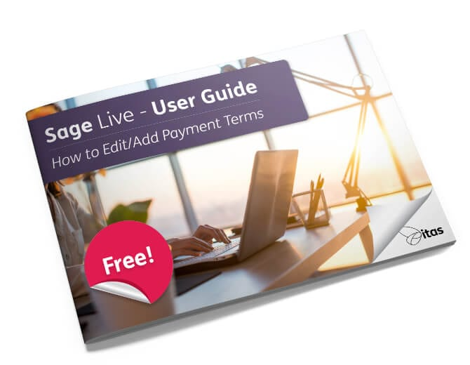 Edit/Add Payment Terms Sage Live user guide