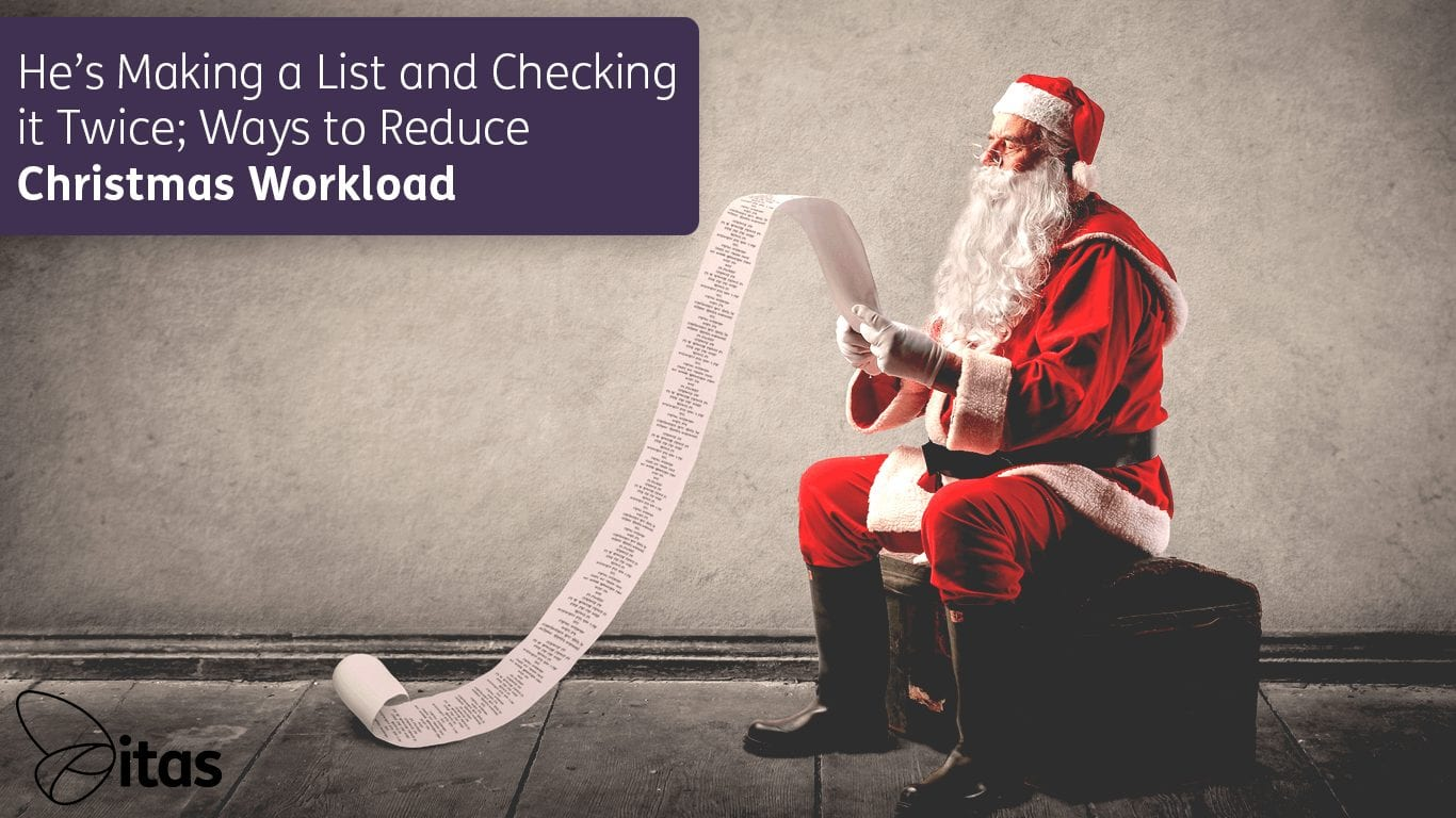 He's Making a List and Checking It Twice; Ways to Reduce Christmas Workload