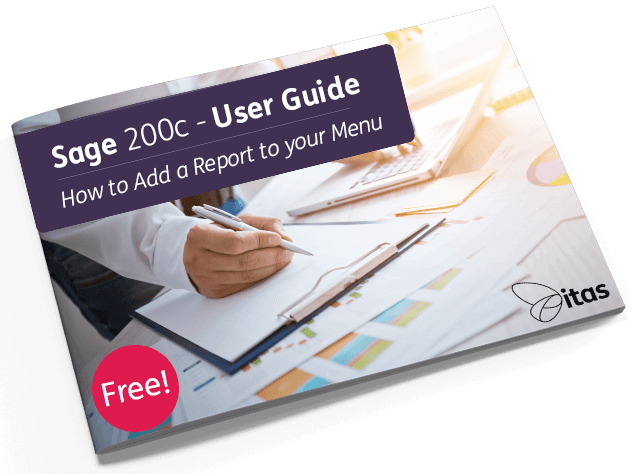 How to Add a Report to your Menu in Sage 200c