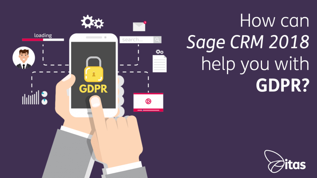 How can Sage CRM 2018 help you with GDPR?