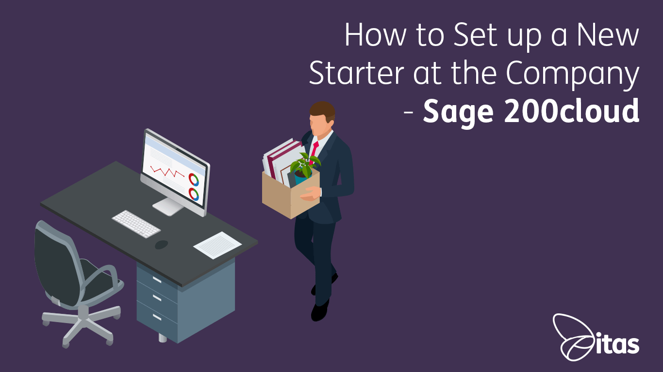 How to Set up a New Starter at the Company - Sage 200cloud