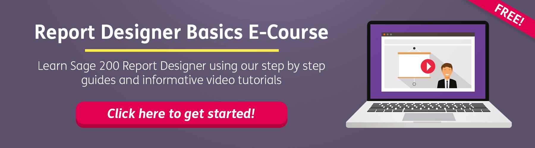 Sage 200 Free Report Designer Online Course CTA
