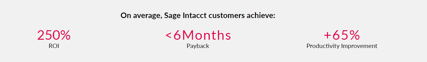 Sage Intacct Customer Success Statistics