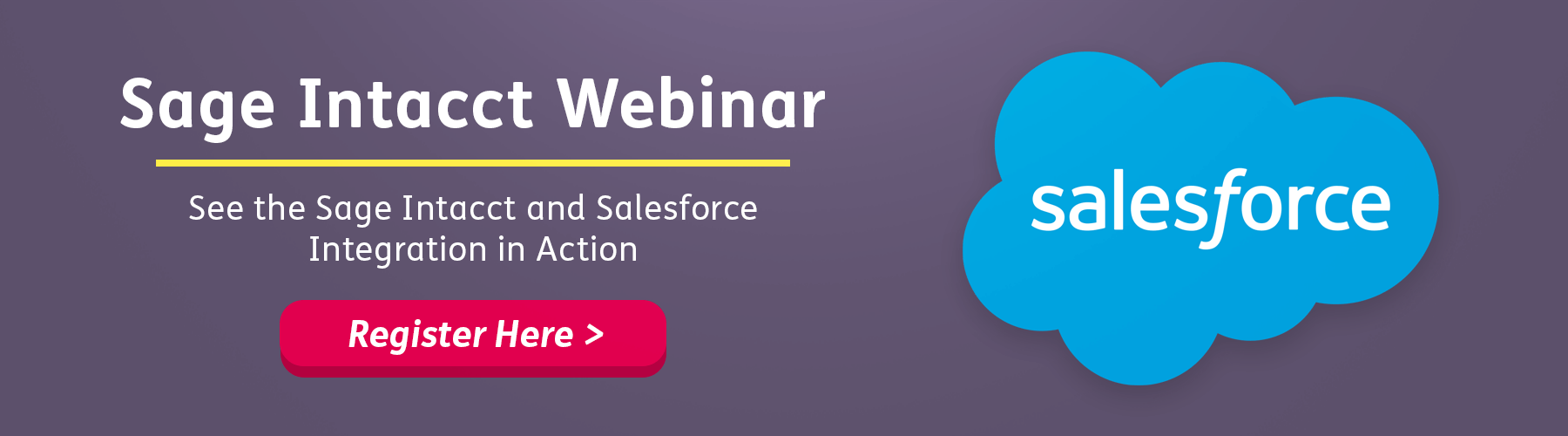 Sage Intacct & Salesforce Integration Webinar
